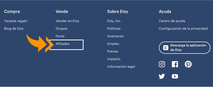acceso programas de afiliados de Etsy