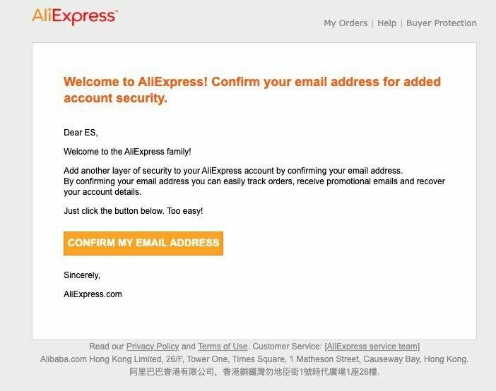 Confirmación-email-cuenta-aliexpress